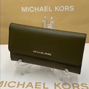Michael Kors Jet Set Travel Lg Trifold Wallet